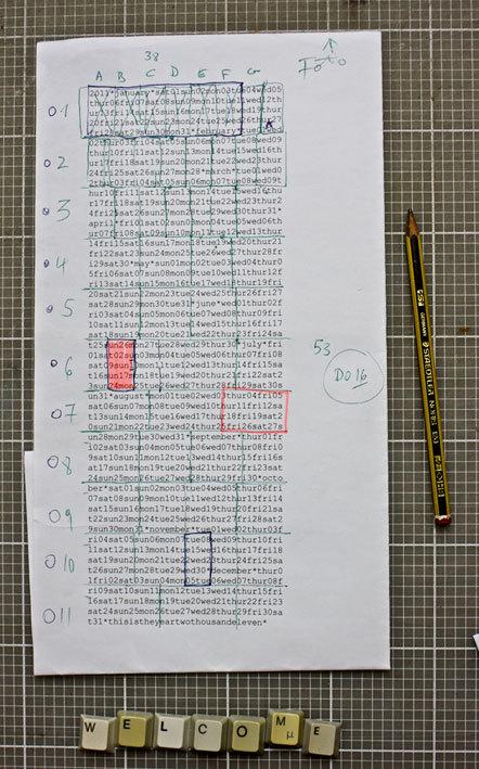 Bild Typokalender