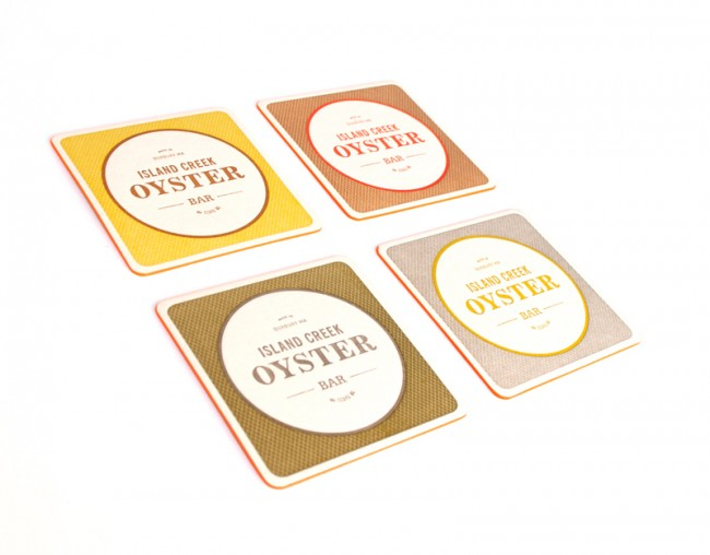 Island Creek Oyster Bar, Boston: CD und Karte gestaltet von Oat