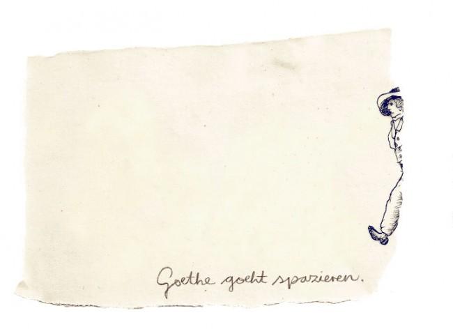 Goethe goeht spazieren