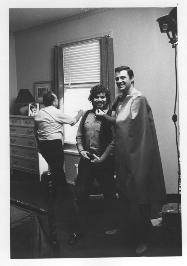 Don on Superman shoot, Director, Sid Myers.