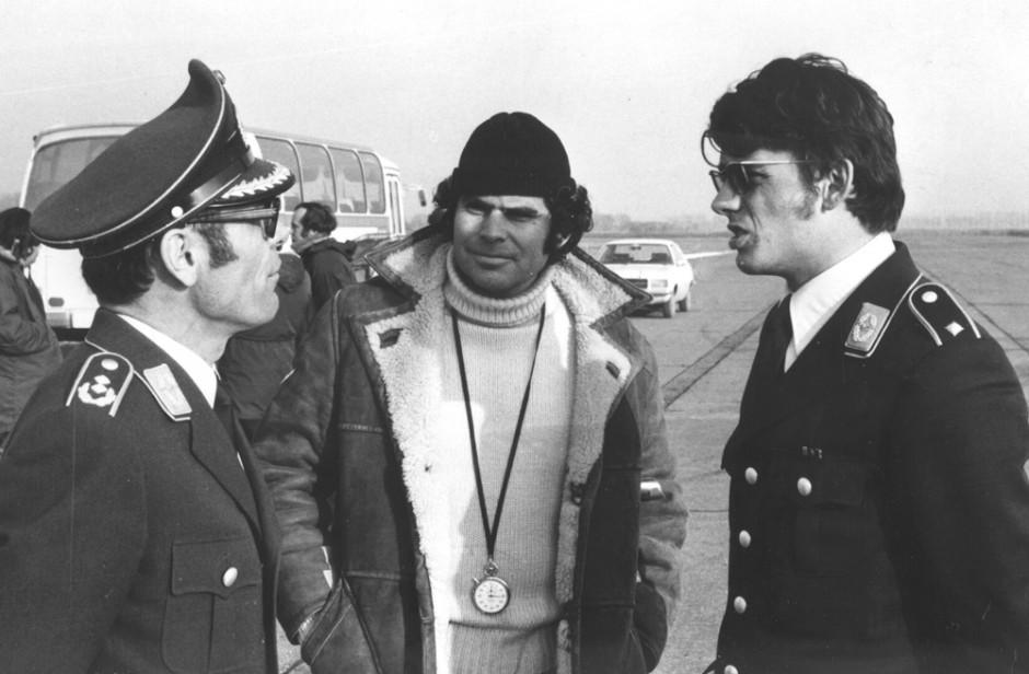 Don on Mercedes shoot on Luftwaffe Base