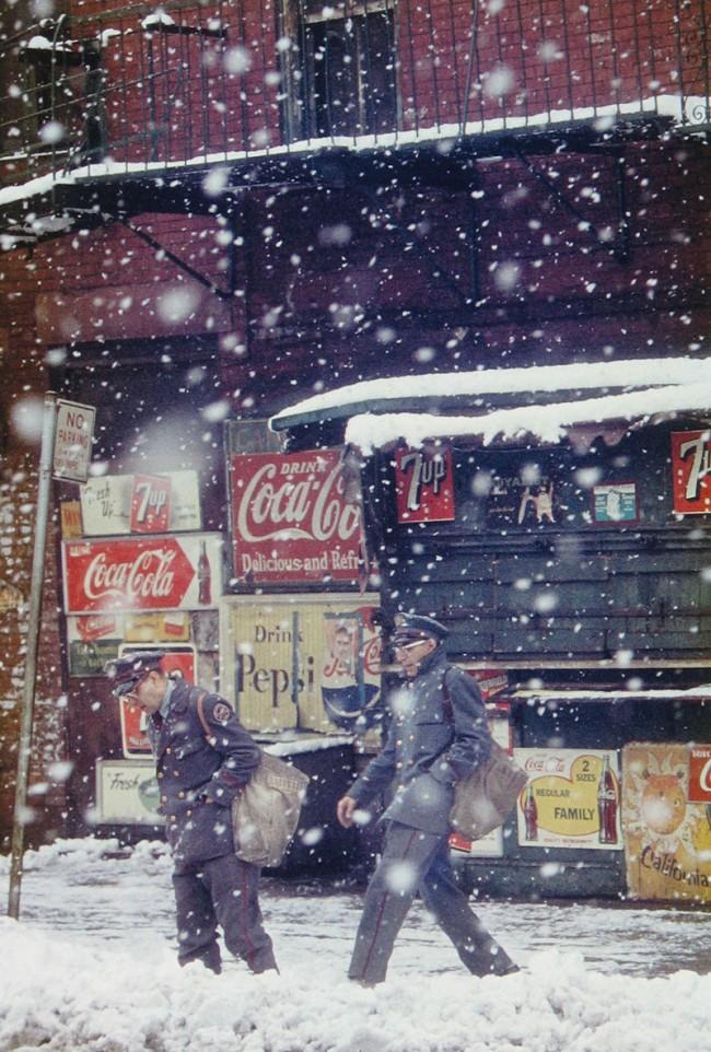 Saul Leiter: Postmen, 1952