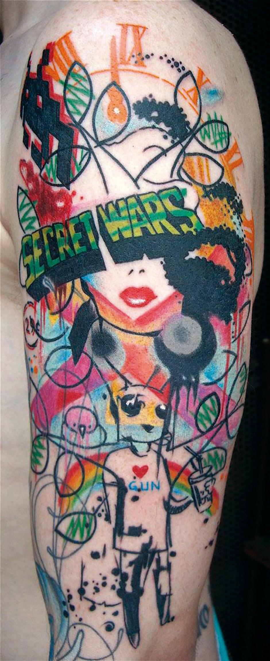 Jef, www.boucheriemoderne.be, aus dem Buch »Tattoo World« von Marisa Kakoulas & Michael Kaplan, erschienen bei Knesebeck
