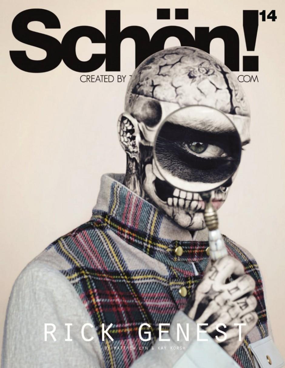 Für eine Strecke im Modemagazin »Schön« wurden Rick Genests Tattoos zum Teil weggeschminkt. Foto: Matthew Lyn