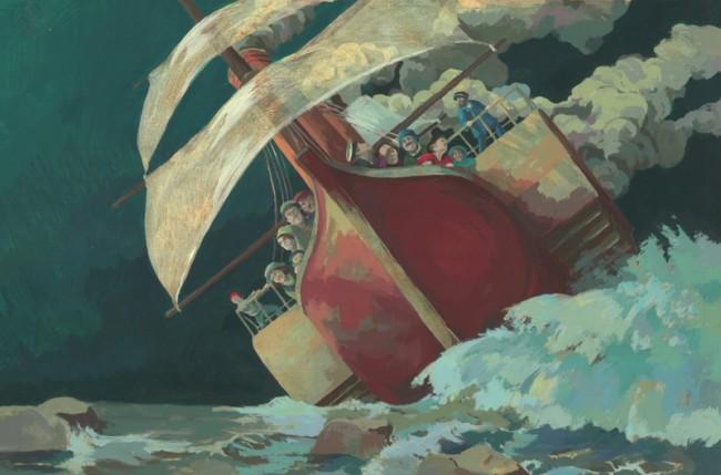 Bilderbuchillustration zum Gedicht »John Maynard« von Theodor Fontane