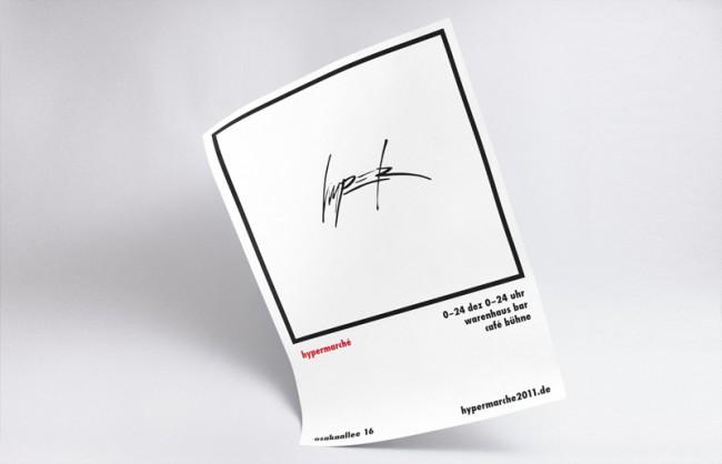 Hypermarché – Plakat mit Wortmarke