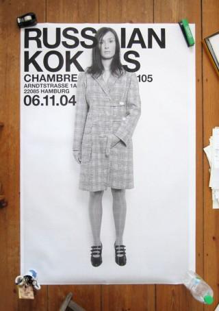 Russian Koks | Modelabel Chambre 105, Veranstaltungsplakat, Art Direction und Fotografie