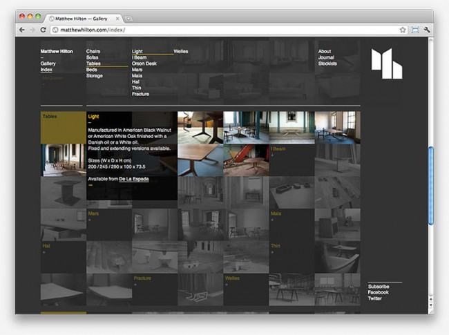 Matthew Hilton identity and website, London, UK | Spin
