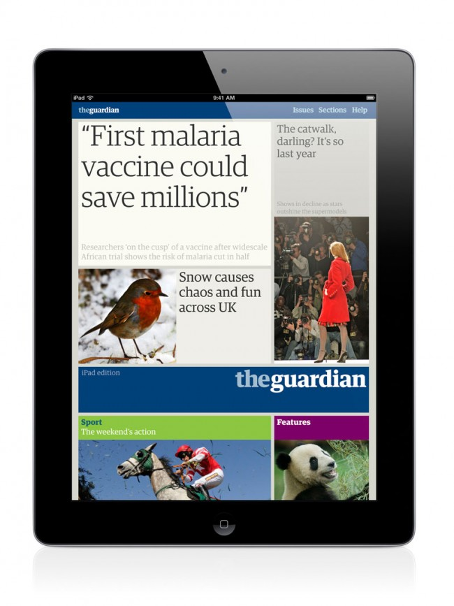 Guardian iPad edition, London, UK | Guardian News and Media in consultation with Mark Porter