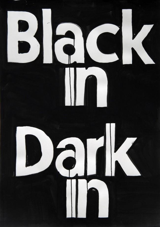 Mirko Borsche / Bureau Mirko Borsche. Coverversion: Ausstellungsplakat für Die Neue Sammlung 'Black in Dark. Hubertus Hamm. Fotografien', 2010
