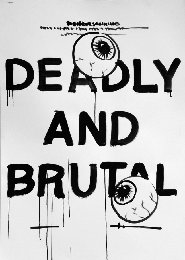 Mirko Borsche / Bureau Mirko Borsche. Coverversion: Ausstellungsplakat für Die Neue Sammlung 'Deadly and Brutal. Filmplakate aus Ghana', 2011