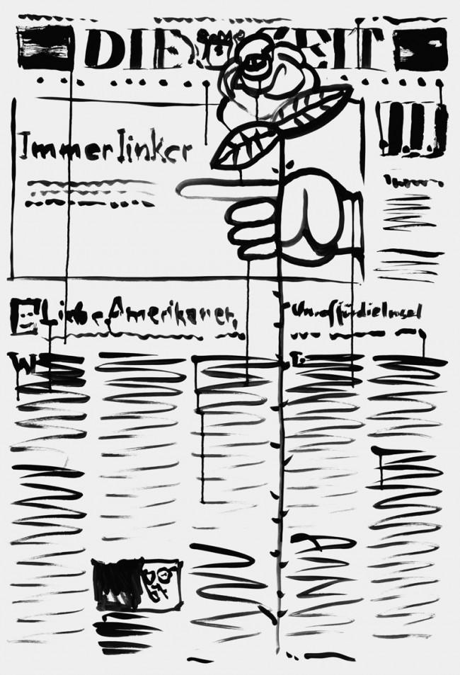 Mirko Borsche / Bureau Mirko Borsche. Coverversion: Titelseite der Wochenzeitung Die Zeit, No.6/2008