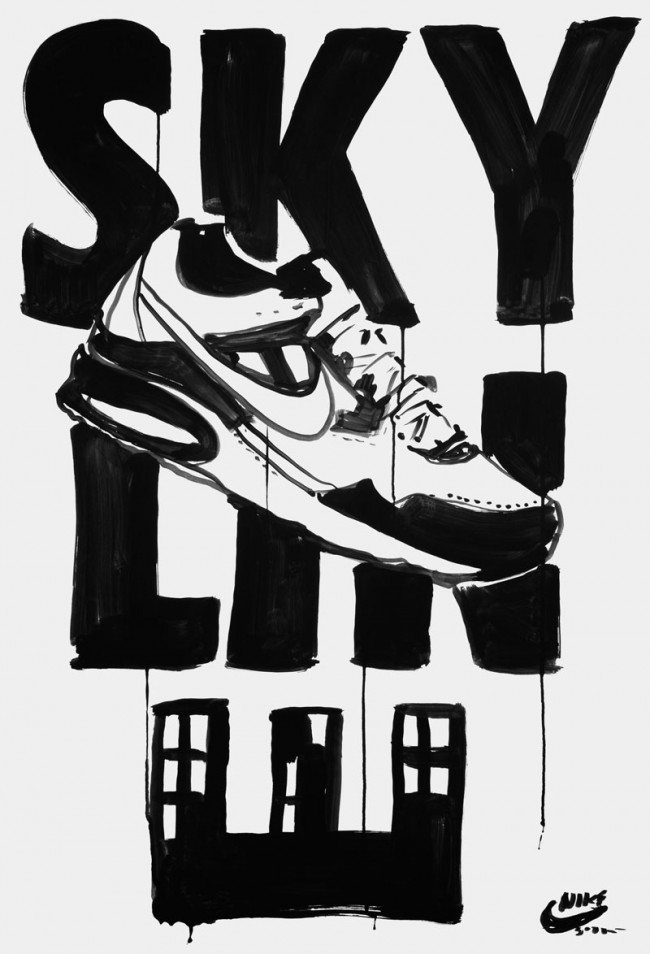 Mirko Borsche / Bureau Mirko Borsche. Coverversion: Plakatentwurf für Nike