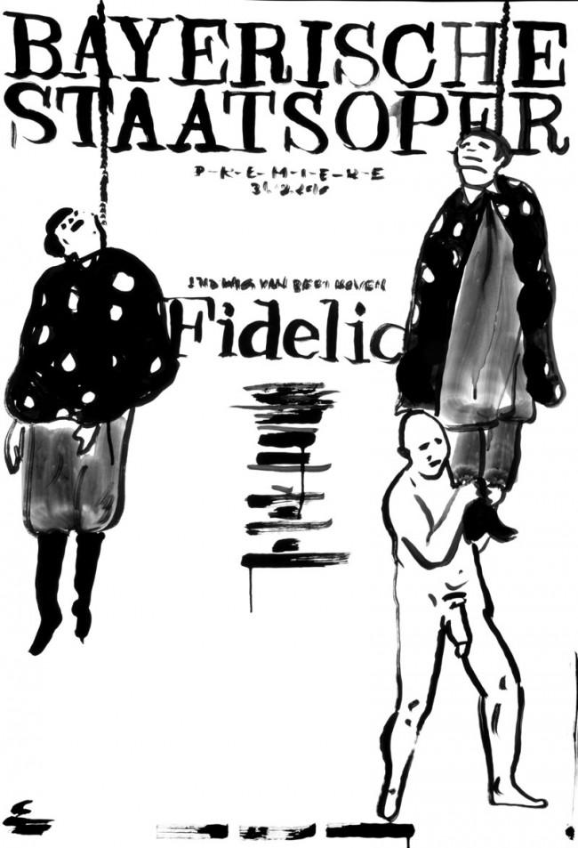 Mirko Borsche / Bureau Mirko Borsche. Coverversion: Plakat für die Bayerische Staatsoper – Premiere Fidelio 2010