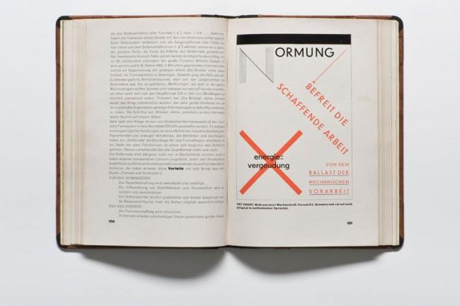 Jan Tschichold, Die neue Typographie, Berlin 1928, Museum für Gestaltung Zürich, Grafiksammlung, Foto: Umberto Romito