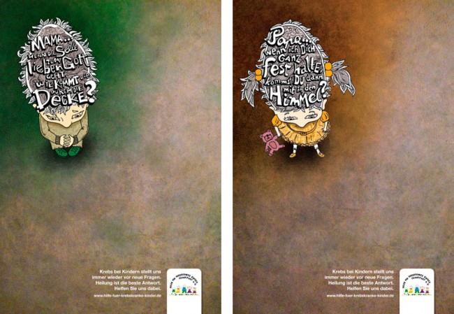 Print Media - Advertising Media: Kampagne Hilfe für krebskranke Kinder; Leo Burnett, Frankfurt