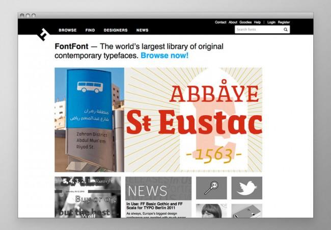 Digital Media - Online Shops: Relaunch fontfont.com; Edenspiekermann, Berlin