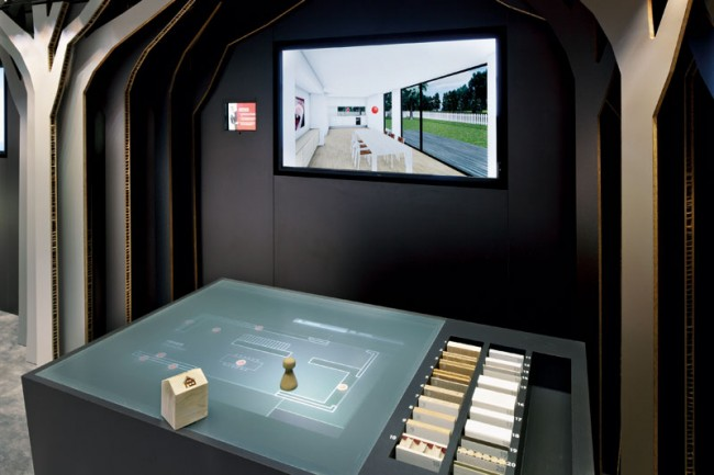 Corporate Architecture - Installations in public spaces: Materialbibliothek, Fritz Egger; Playframe, St. Johann in Tirol
