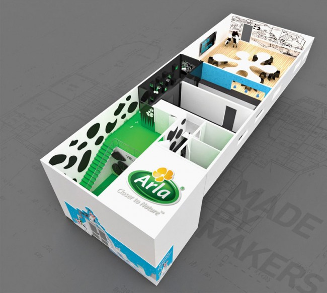 corporate architecture - Shop/Showroom: Arla Diary; Mady by Makers, Dänemark