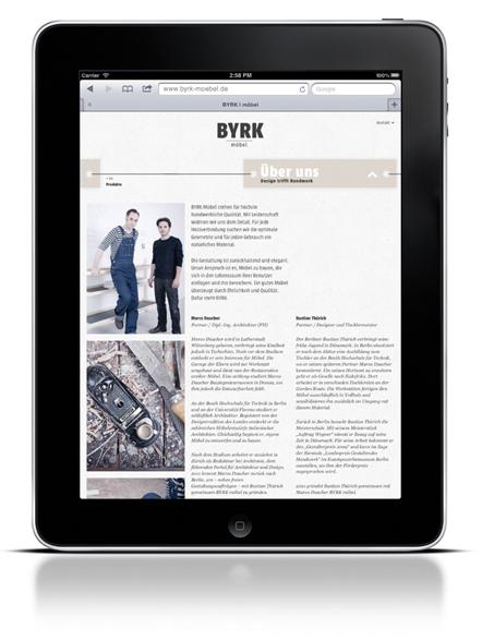 Bild Byrk Webseite