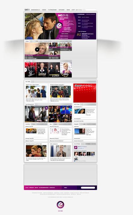 Bild Webseite Sat1