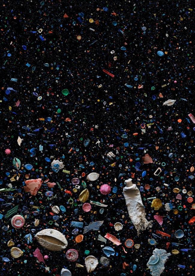 »soup: refused«, Plastikmüll aus dem Ozean, durch Tiere beeinflusst, die versuchten, ihn zu kauen oder zu fressen