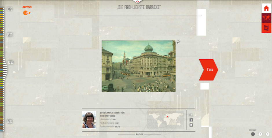 Ansicht einer Postkarte