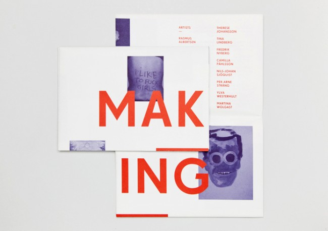 Visual Identity & Catalogue for Exhibition »Making Public«