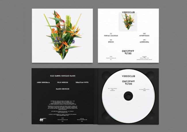 Visual Identity & Music Packaging for Videoclub's Delta Amacuro Tour. Flowers by Annett Kuhlmann, Marsano.