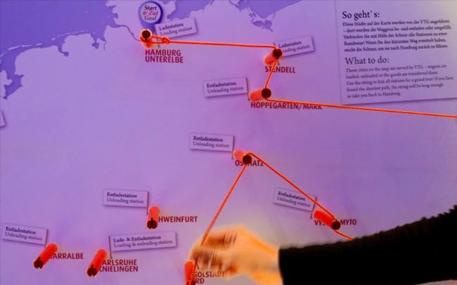 Das Spiel »Travelling Salesman« veranschaulicht, wie anspruchsvoll Logistiklösungen sind.