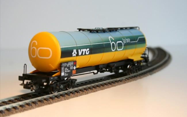 Der H0-Jubiläumswaggon mit speziellem Design.