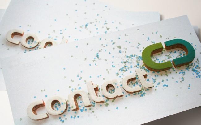 Neujahrskarte mit dem frisch gebackenen Logo der Contact GmbH.