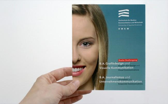 Broschüre mit Informationen zu den Studiengängen.