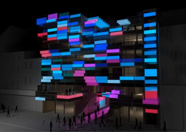Beleuchtungsbeispiel Medienfassade