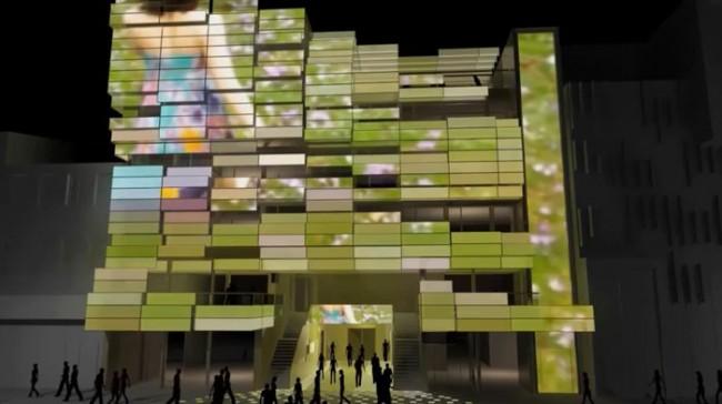 Beleuchtungsbeispiel Medienfassade: Video