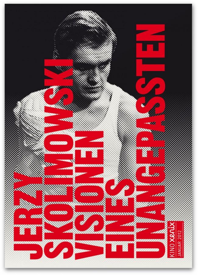 Jerzy Skolimowsky: Postkarte für das Monatsprogramm des Kinos Xenix in Zürich