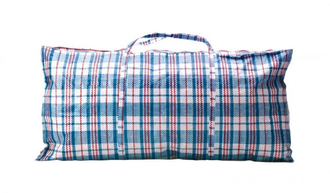 Die rot-blau-weiße Tasche