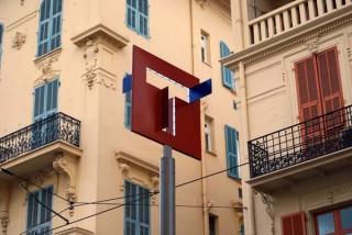 T für das Straßenbahnsystem in Nizza