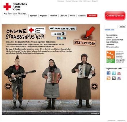 Bild Strassenmusiker DRK