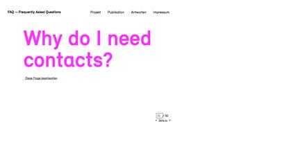 Bild FAQ Projekt