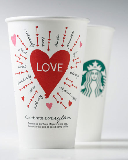Bild Starbucks Valentinsaktion