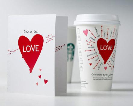 Bild Starbucks Valentinsaktion