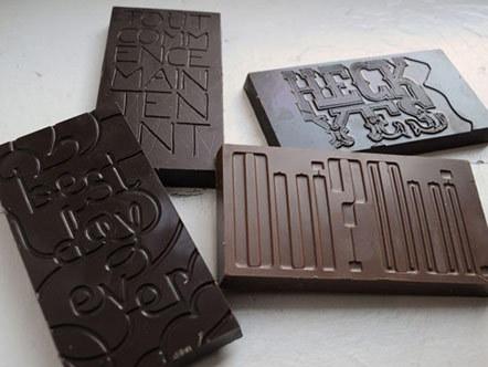 Bild Typo-schokolade