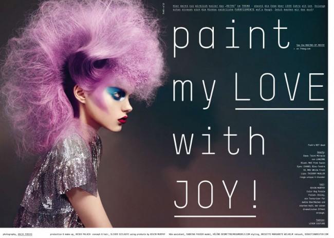 74 Issue #4, Foto: Anja Frers, Produktion & Make-up: Heiko Palach, Concept & Hair: Oliver Szilagyi, Model: Hélène Desmettre, Styling: Brigitte Margarete Wilhelm, Retouch: Sebastianreuter.com