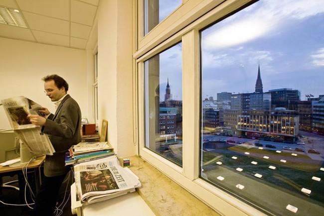 Redaktionsbüro der »Zeit« mit Blick auf den Domplatz
