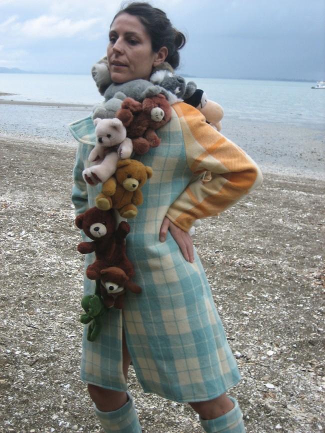 Katell Gélébart im Teddy-Coat