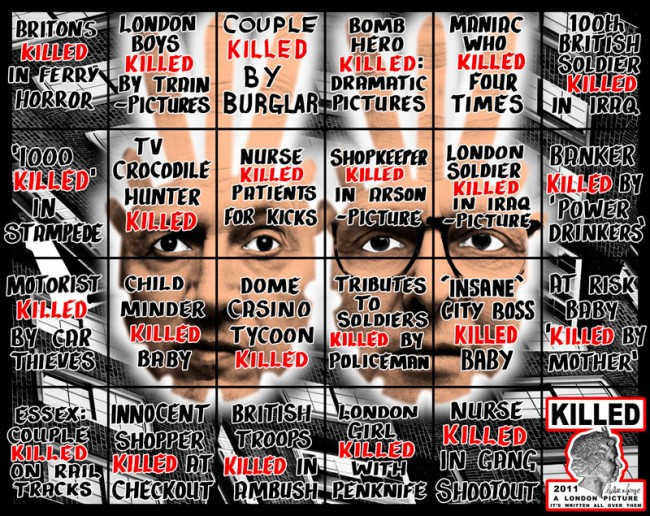 Gilbert & George KILLED, aus der Serie »A London Picture«, 2011