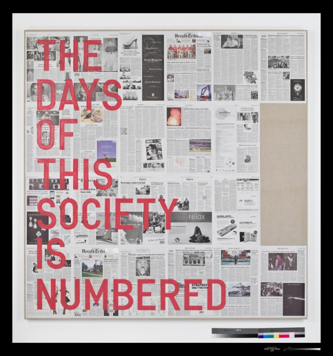 Rirkrit Tiravanija: untitled 2010 (the days of this society is numbered / September 15 - October 12 2008), 2010, Courtesy of the artist and Gavin Brown´s enterprise, LUMA Foundation, Schweiz, Photo: Ellen Page Wilson Studio