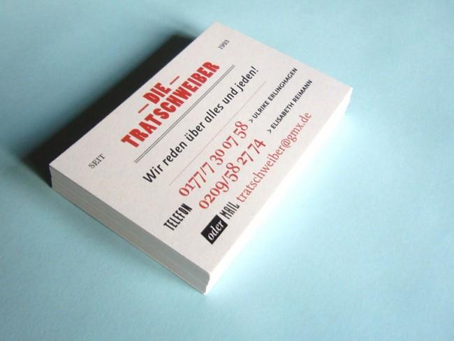 Die Tratschweiber | Visitenkarten für ein komödiantisches Duo
