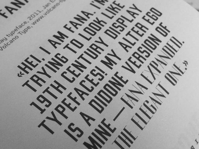 Fana | Freies Projekt: Gestaltung einer Displayschrift